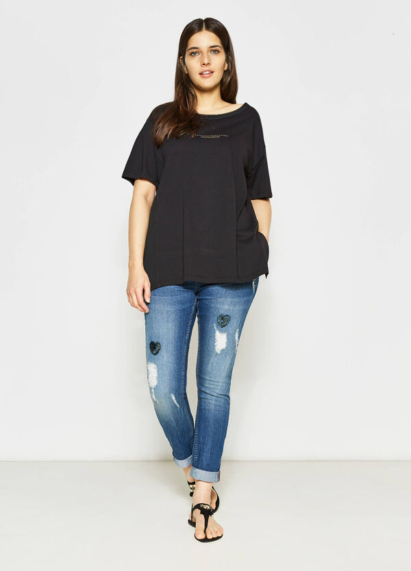 T-shirt stampa lettering Curvy | OVS