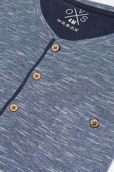 100% cotton two-tone pyjamas, Blue, hi-res