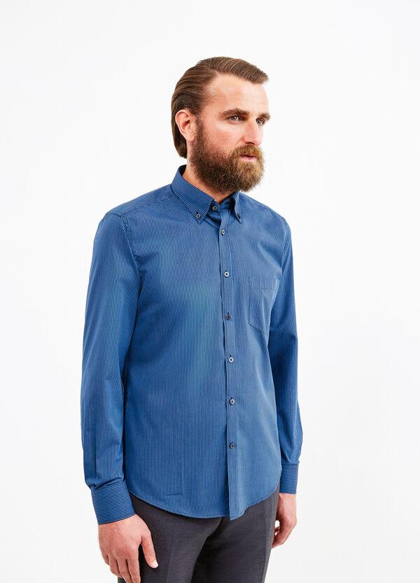 Camicia formale slim fit cotone a righe | OVS