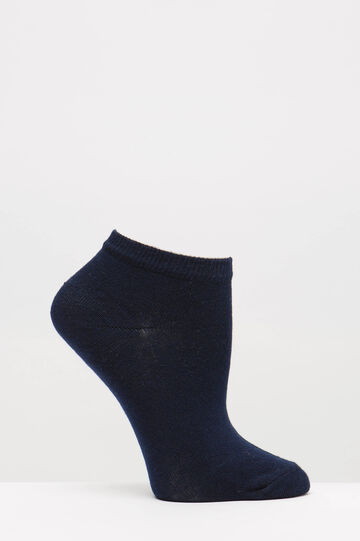 Two-pair short socks with print, Blue, hi-res