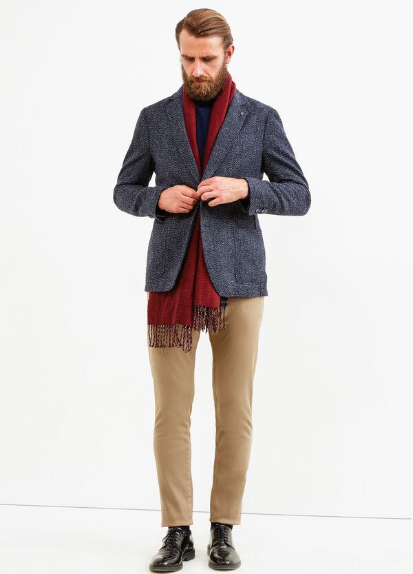 Chaqueta elegante en lana elástica con fantasía | OVS
