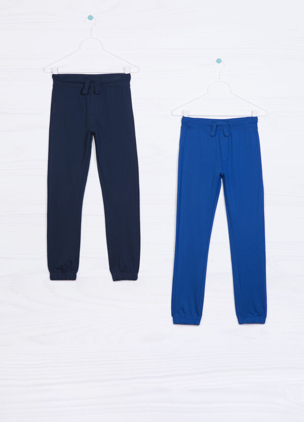 Two-pack solid colour trousers in cotton | OVS
