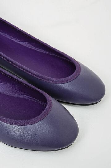 Ballerine con lacci tinta unita, Viola porpora, hi-res