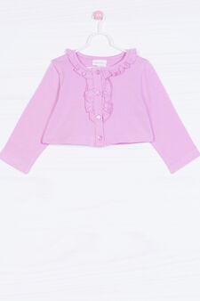 Solid colour stretch T-shirt, Lilac, hi-res