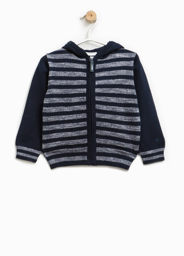 Cardigan in linen blend with striped pattern | OVS
