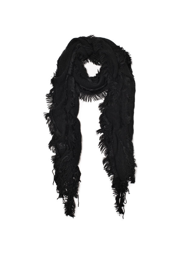 Knitted scarf with fringe | OVS