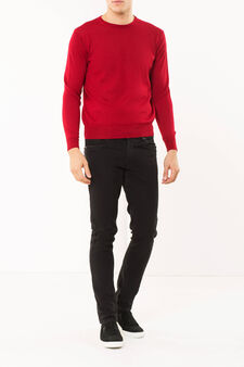 Pullover in wool blend, Red, hi-res