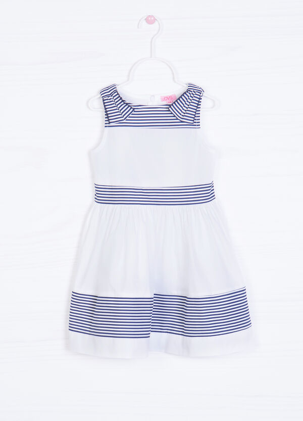 Striped pattern dress in 100% cotton | OVS
