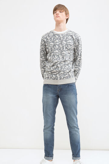 100% cotton pullover pattern, Light Grey, hi-res