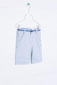 Striped pattern jeans, Soft Blue, hi-res