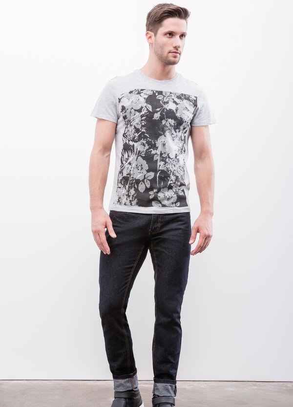 Printed cotton and viscose T-shirt | OVS