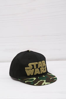 Baseball cap with Star Wars print, Black, hi-res