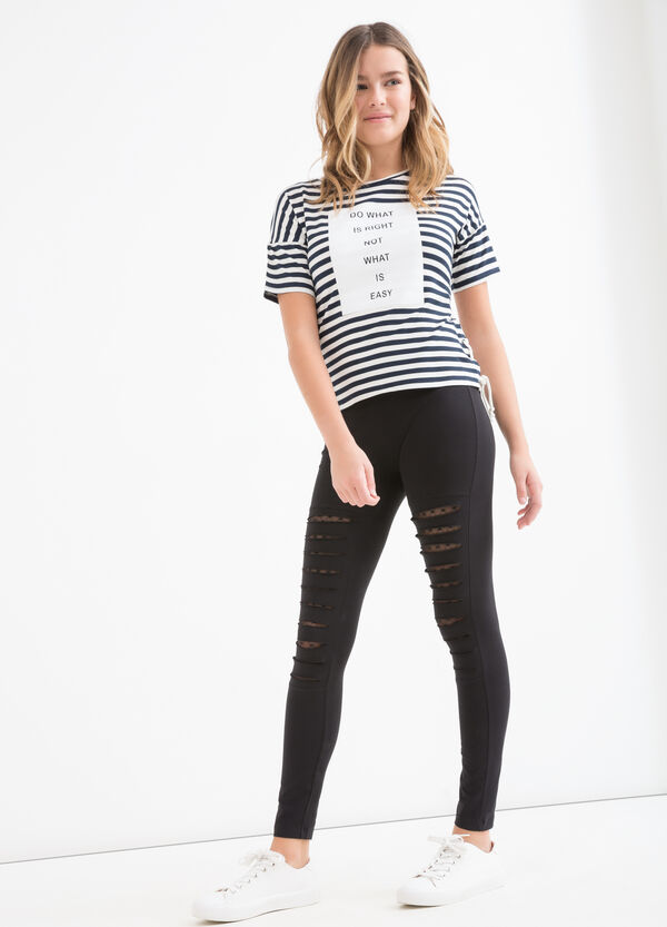 Teen stretch striped T-shirt | OVS