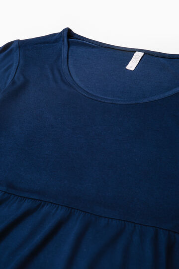 100% viscose pyjama top, Blue, hi-res