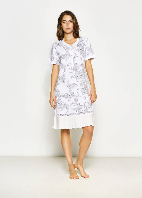 Nightshirt with paisley pattern   OVS