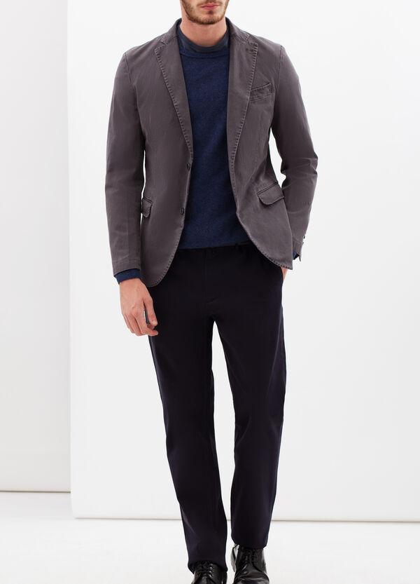Stretch cotton jacket with lapels | OVS