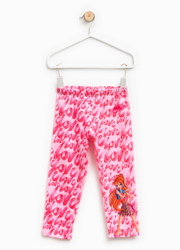 Winx leggings with lettering pattern | OVS