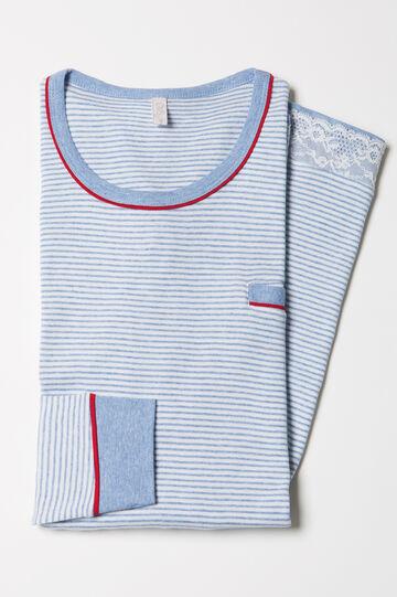 100% cotton striped nightshirt