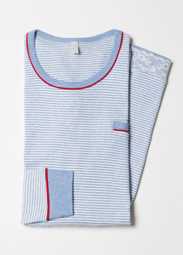 Camicia da notte puro cotone righe | OVS