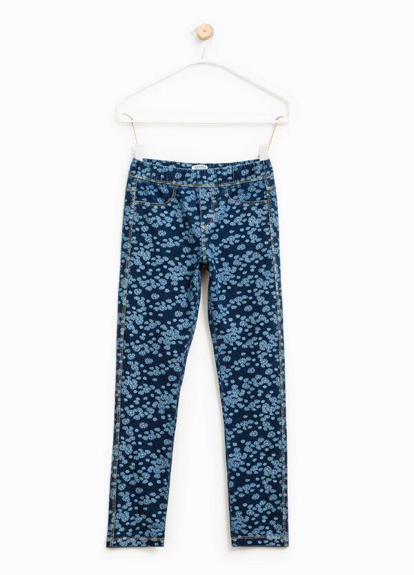 Stretch floral jeggings | OVS