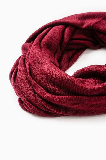 Solid colour scarf, Claret Red, hi-res