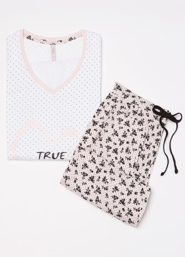 V-neck pyjamas in 100% cotton | OVS