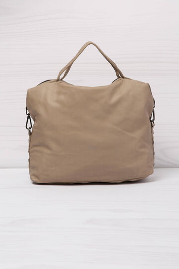 Leather look handbag, Beige, hi-res