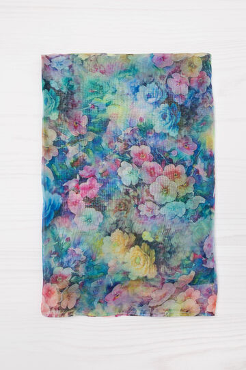 Scarf with floral pattern, Multicolour, hi-res