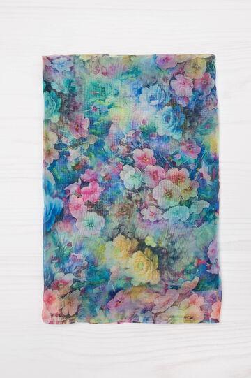 Sciarpa con fantasia floreale