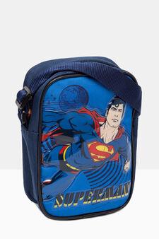 Borsello con stampa Superman, Blu navy, hi-res