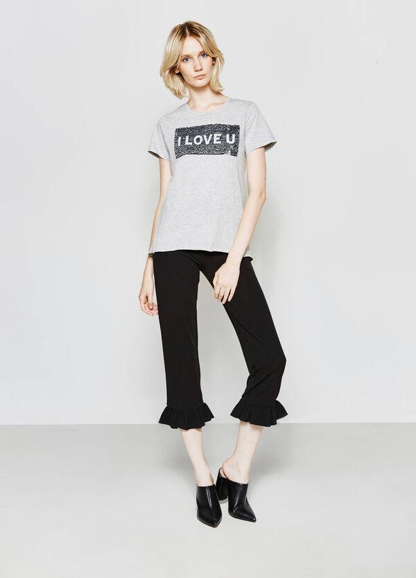 T-shirt in puro cotone con patch | OVS