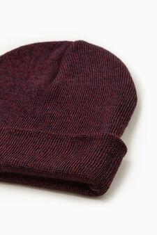 Cappello a cuffia mélange, Rosso bordeaux, hi-res