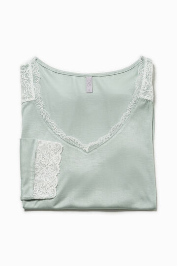 Pyjama top with lace