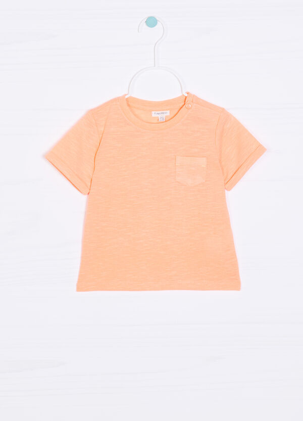 Solid colour T-shirt with pocket | OVS