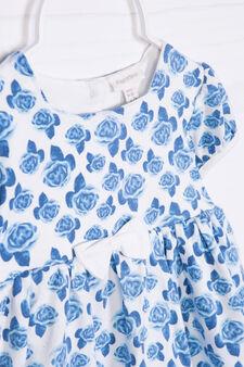Pagliaccetto stretch fantasia floreale, Bianco/Blu, hi-res