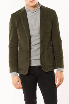 Corduroy jacket, Moss Green, hi-res