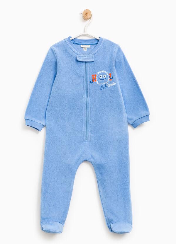 Fleece sleep suit with embroidery | OVS
