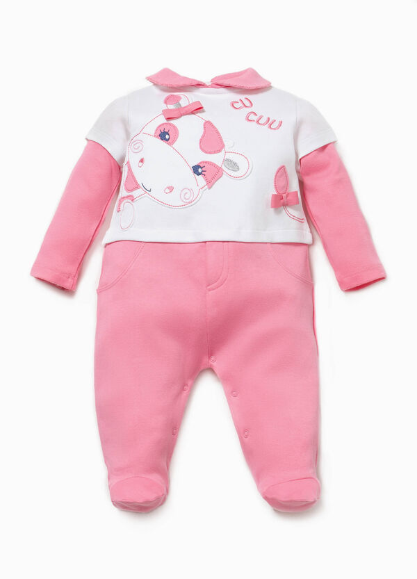 Faux layered two-tone onesie | OVS