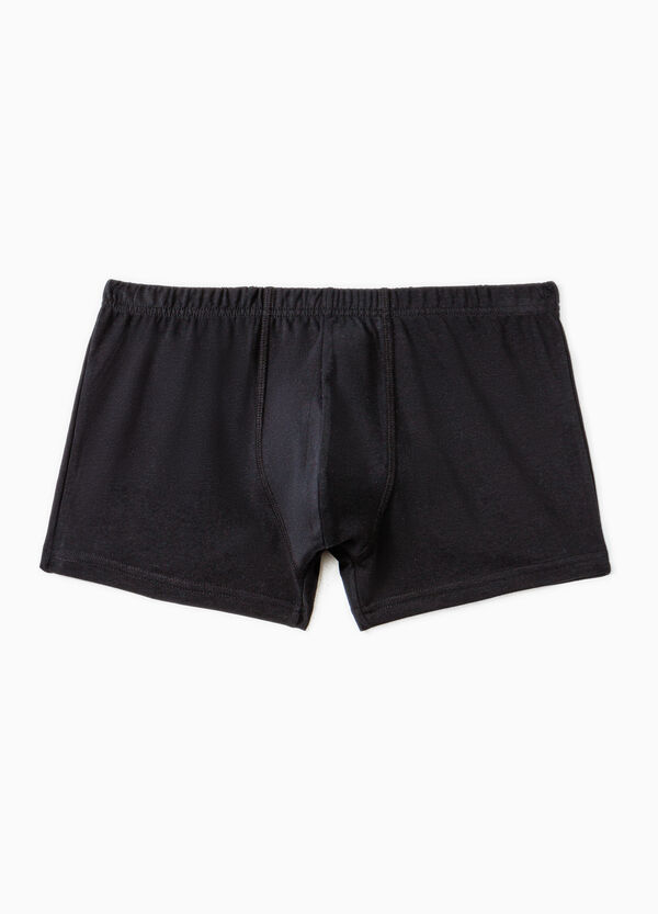 Cotton boxer shorts with elasticated waistband | OVS
