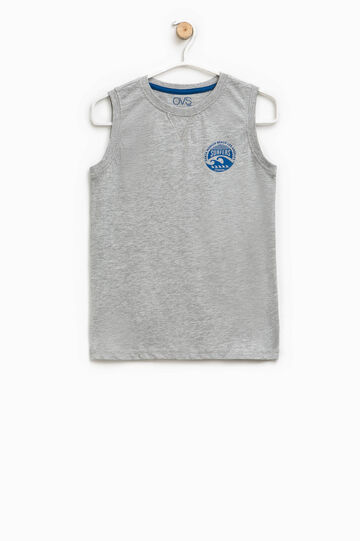 Vest top with print on the chest
