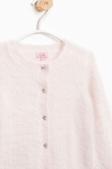 Solid colour knitted cardigan, Pink, hi-res