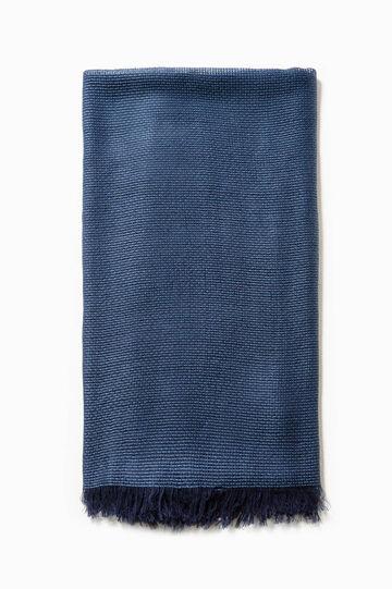 Sciarpa tricot in cotone e viscosa, Blu navy, hi-res