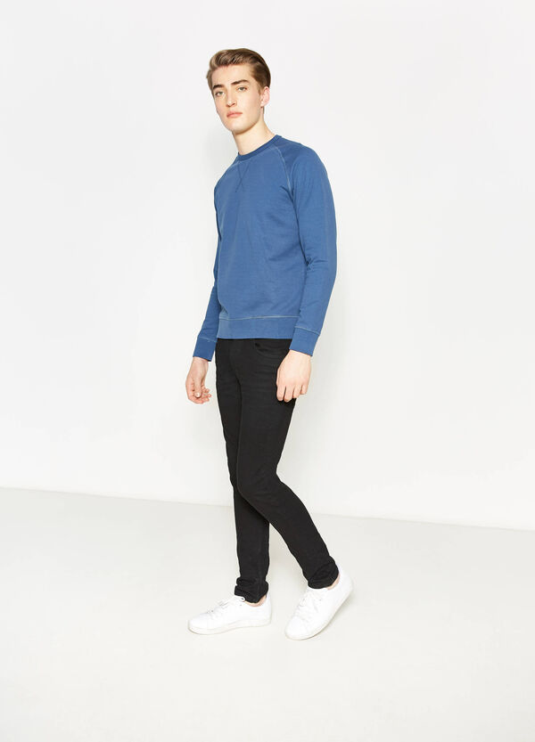 Solid colour 100% cotton sweatshirt | OVS