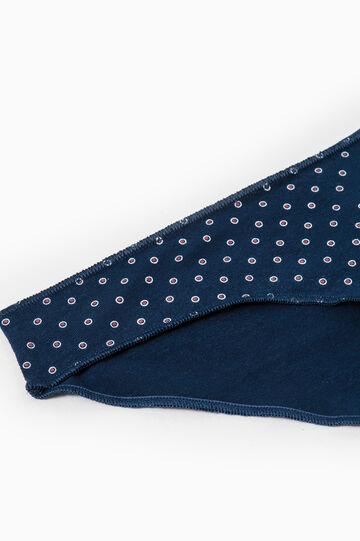 Slip cotone stretch fantasia, Blu/rosso, hi-res