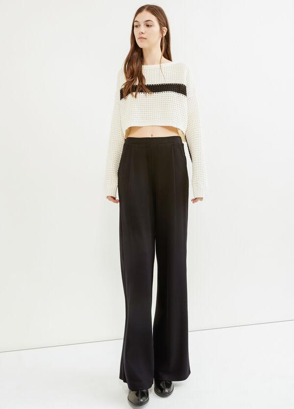 Pantalón culotte en viscosa elástica | OVS