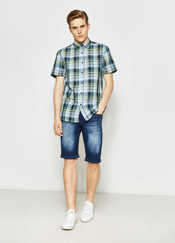 Regular-fit casual tartan shirt | OVS