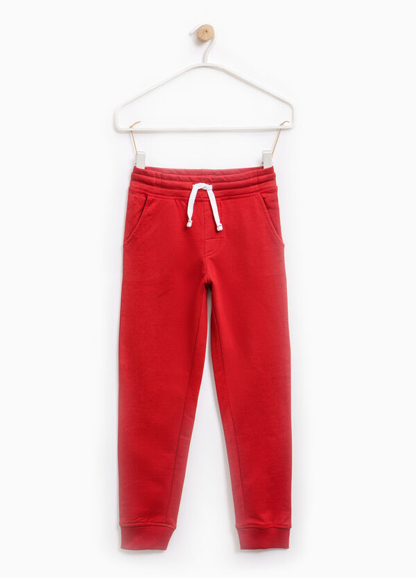 Joggers with ribbed ankles | OVS