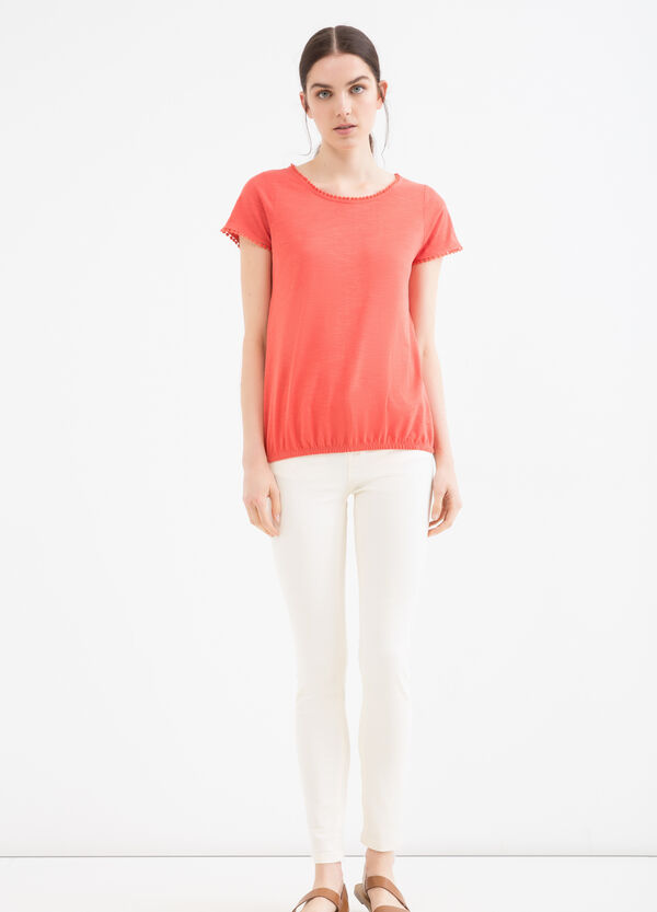 Pantaloni cotone stretch tinta unita | OVS