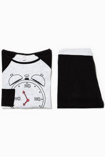 Cotton pyjamas with contrasting print