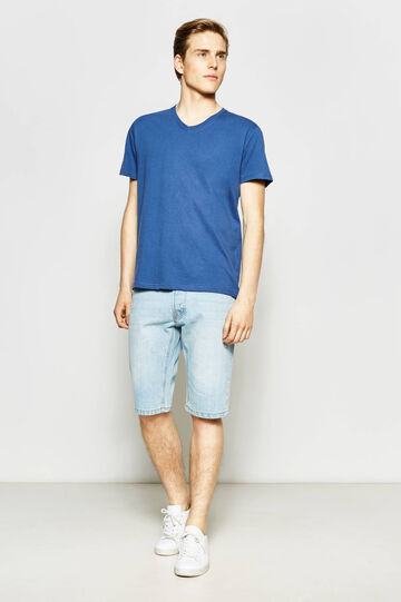 Slim-fit denim Bermuda shorts